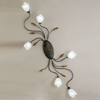 Floral ceiling light CAMPANA six bulb