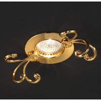 Holly   gold plate recessed light made of brass