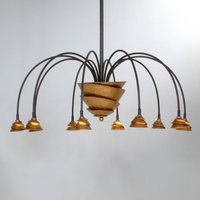 Exclusive hanging lamp FONTAINE iron  brown gold