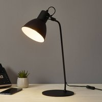 Decorative table lamp Shadi in black