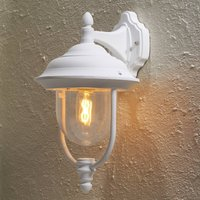 Parma outdoor wall light  hanging lantern in white