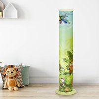 Wildlife floor lamp for a child s room