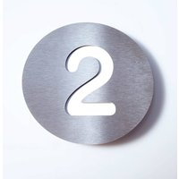 Stainless steel house number Round   2