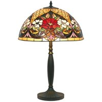 Table lamp with a floral pattern  Tiffany style