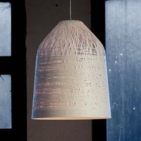 White designer pendant lamp Black Out  50 cm