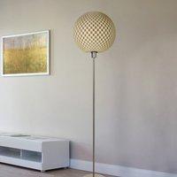 Striking Flechtwerk designer floor lamp  linen