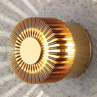 Monza LED outdoor wall lamp round bronze 9 cm
