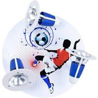 Soccer ceiling light  3 bulb  blue and white