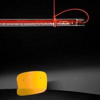 Ingo Maurer Tubular LED hanging light  red