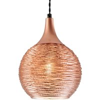 Copper coloured Fiona glass pendant light  1 bulb