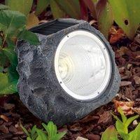 LED-Deko-Solarleuchte 90494 als Stein getarnt