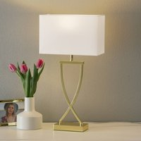 Enchanting fabric table lamp Anni brass white