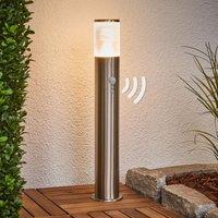 Bewegungsmelder-Sockellampe Belen mit LED