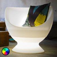 Leuchtender Sessel Boons für den Außenbereich