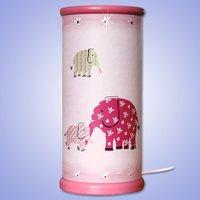 Magical magenta Elephant LED table lamp