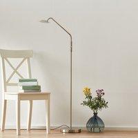 Elegant Twin LED floor lamp in nickel  1 bulb