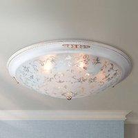 Chic glass ceiling light Diametrik   white gold