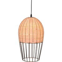 Dizzi hanging light made of wood and metal