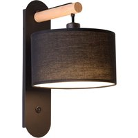 Romeo wall light with a fabric lampshade  black