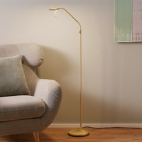 Brass coloured LED floor lamp Zenith with dimmer