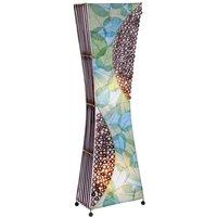 Floor lamp Talia with natural material  100 cm