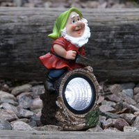 Gnomy LED solar light, woodcutter