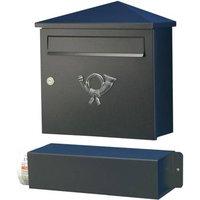 Elegant letterbox LUCIO black