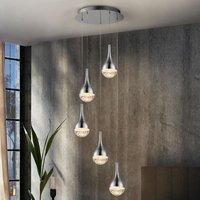 Elie LED hanging light  five bulb