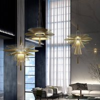 Forestier Gravity 1 hanging light   86cm champagne