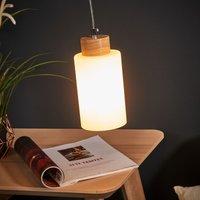 Bosco hanging light  oiled oak  1 bulb