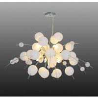 Explosion hanging light in white and chrome 98cm