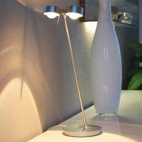 2 bulb table lamp PUK TABLE  chrome