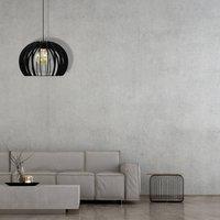 Kula pendant lamp  one bulb  black   25 cm