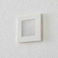 BEGA Accenta wall lamp angular frame white 160 lm