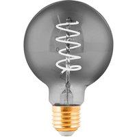 Globe LED bulb E27 4 W transparent black   8 cm