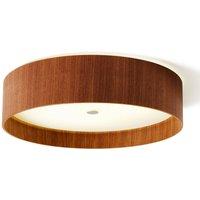 Lara wood   LED ceiling light  walnut 55 cm