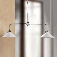 GIACOMO hanging light with ceramic shades  2 bulb