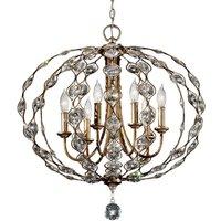 Leila richly decorated crystal chandelier  6 bulbs