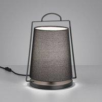 Helestra Uka table lamp  black fabric lampshade