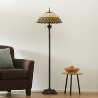 Floor lamp Frieda with a Tiffany lampshade