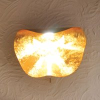 Knikerboker Non So LED wall light gold leaf
