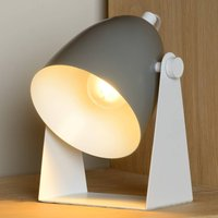 Chago table lamp made of metal  grey