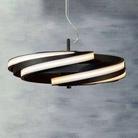 Zoya LED hanging light in matt black