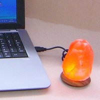 Compus LED salt lamp with USB for computer laptop