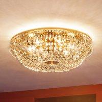 Sherata Crystal Ceiling Light Round Gold 55 cm