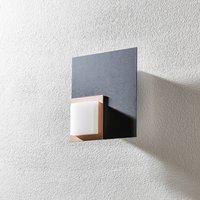 BANKAMP Quadro LED ceiling light 8 W anthracite