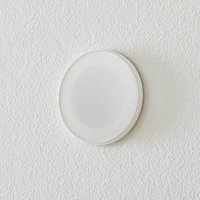 BEGA Accenta wall lamp round ring white 160 lm