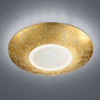 LED-Deckenleuchte Chiros rund goldfarben