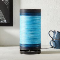 Julie table lamp wrapped in threads  blue