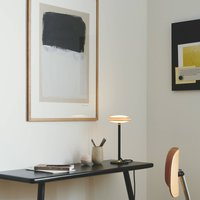 Shade  S1 LED table lamp rings brass  black base